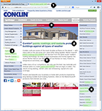 Conklin Paints and Sealers Home Page Screen Shot