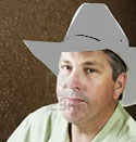 guy in gray cowboy hat